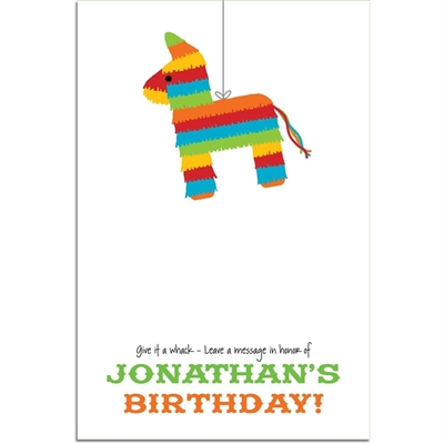 Pinata Theme Fiesta Sign In Board
