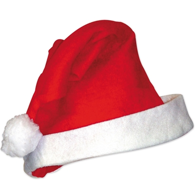 Red Felt Santa Hats - Pack of 12