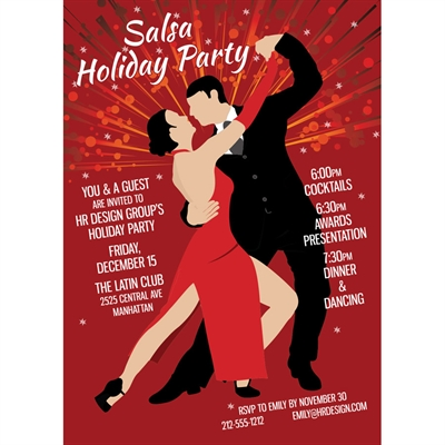 Salsa Dance Party Invitation