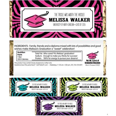 Graduation Jungle Theme Candy Bar Wrapper