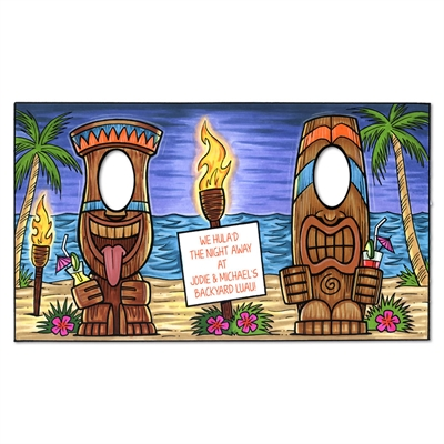 Custom Luau Party Tiki Photo Op