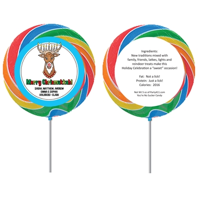 Chrismukkah Theme Lollipop
