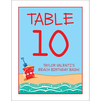 Beach Theme Table Number
