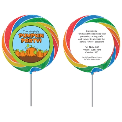 Pumpkin Patch Theme Lollipop