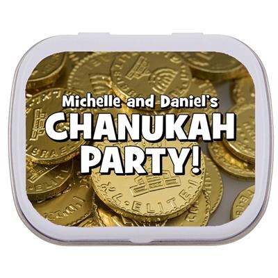 Chanukah Gelt Theme Mint Tin