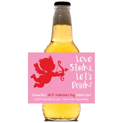 Cupid Anti-Valentine's Day Beer Bottle Label