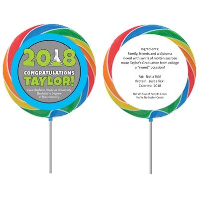Science Graduation Theme Lollipops