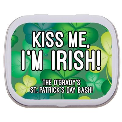 St. Patrick's Day Green Shamrocks Mint Tin
