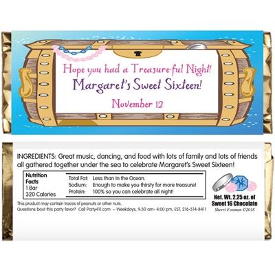 Under The Sea Treasure Theme Candy Bar Wrapper