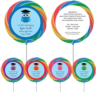 Graduation Owl Theme Lollipop
