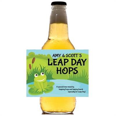 Leap Day Party Theme Beer Bottle Label