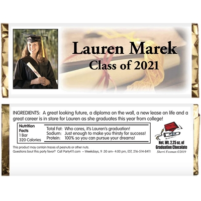 Graduation Photo Theme Candy Bar Wrapper