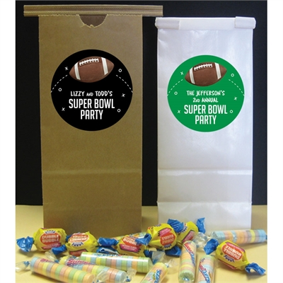 Football Party Theme Favor Bag