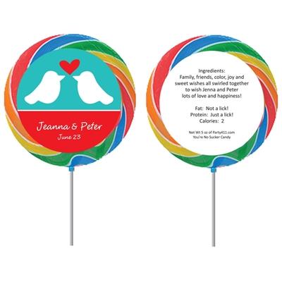 A Lovebirds Theme Lollipop
