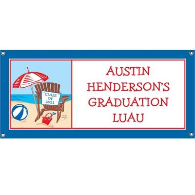 Luau Graduation Beach Theme Banner