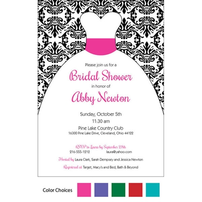 Wedding Dress Theme Invitation