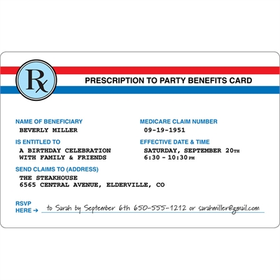 Prescription to Party Theme Invitation
