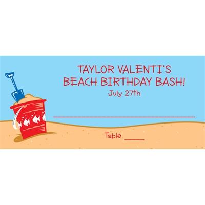 Beach Theme Seating Card