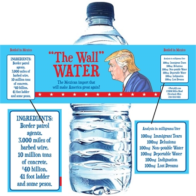 Election 2016 Party Water Bottle Label