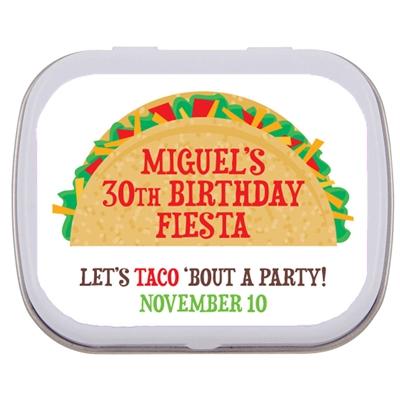 Taco Party Fiesta Theme Mint Tin