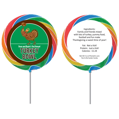 Thanksgiving Turkeybowl Custom Lollipop