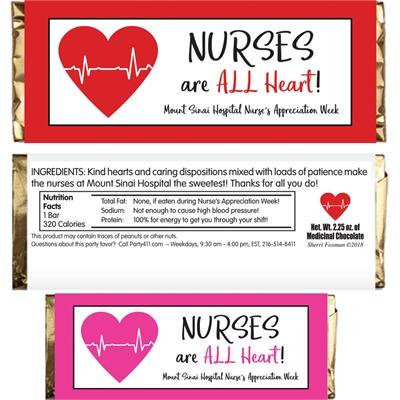 Nursing Appreciation Custom Candy Bar Wrapper