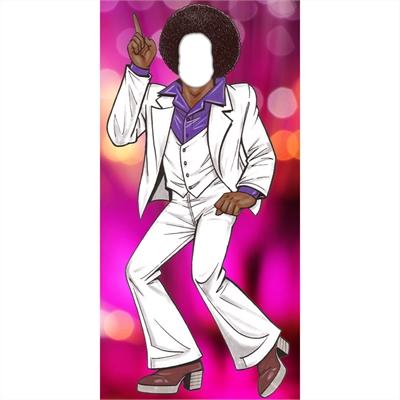 70s Disco Male Purple Photo Op Stand In