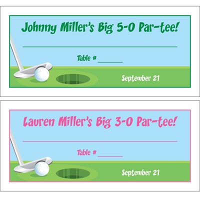 Golf Theme Seating Card