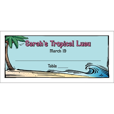 Luau Theme Seating Card