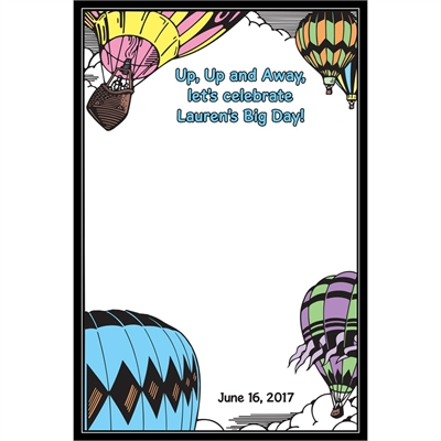 Graduation Up Up and Away Theme Sign In Board
