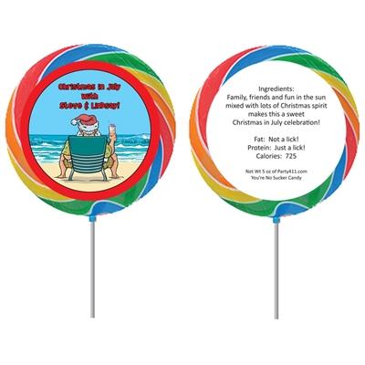 Christmas in July Lollipop