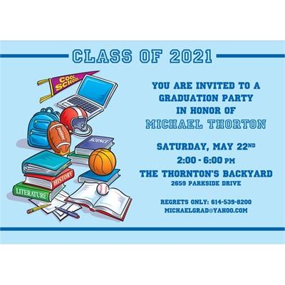 Graduation Sports Invitation