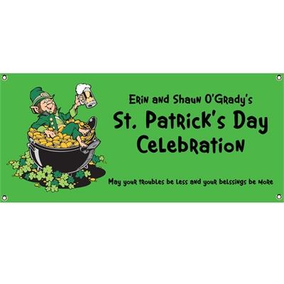St. Patrick's Day Leprechauns Theme Banner