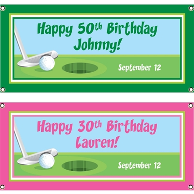 Birthday Golf Theme Banner
