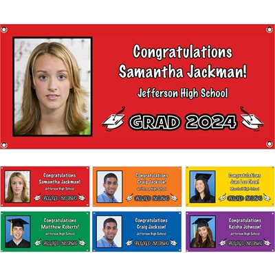 Graduation Photo Banner, Choose Your Color