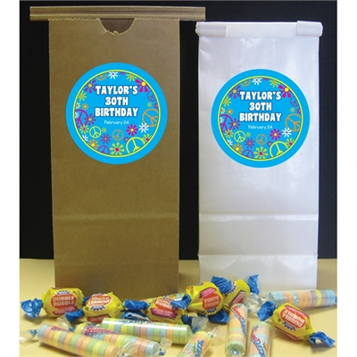 Hippie Retro Theme Party Favor Bag