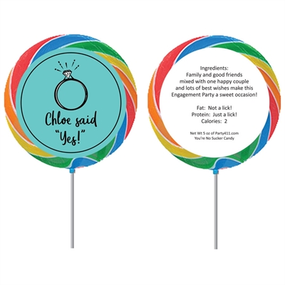 A Bridal Shower Theme Custom Lollipop