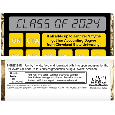 Graduation Calculator Theme Candy Wrapper