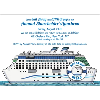 Cruise Theme Invitation