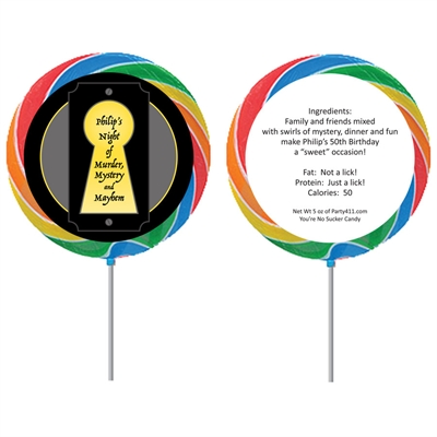 Murder Mystery Party Custom Lollipop