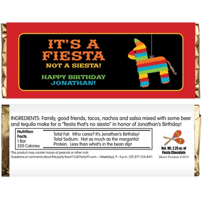 Pinata Theme Fiesta Candy Bar Wrapper
