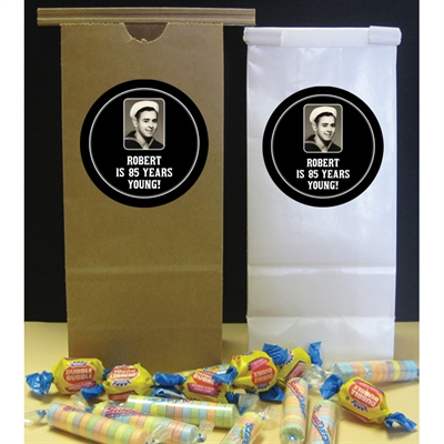 A Classic Birthday Milestone Theme Party Favor Bag