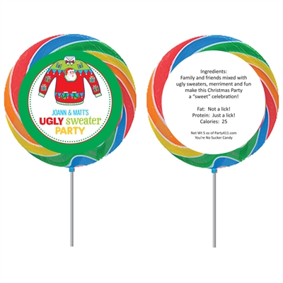 Ugly Sweater Party Custom Lollipop