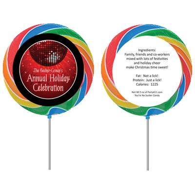 Holiday Party Theme Custom Lollipop