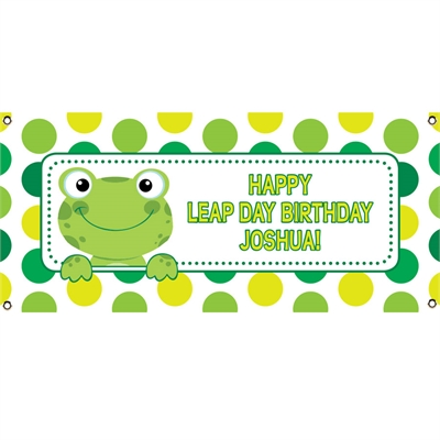 Leap Day Frog Theme Banner