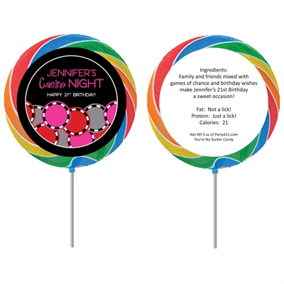 Casino Poker Chips For Her Theme Lollipop