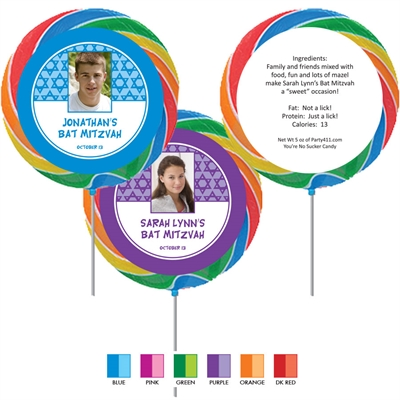 Mitzvah Stars Lollipop