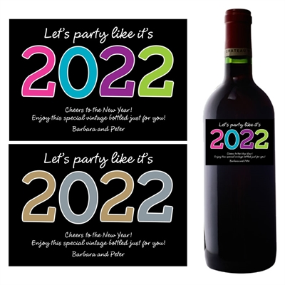 2020 New Years Wine Bottle Label