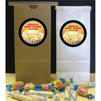 Hollywood Popcorn Theme Custom Favor Bag