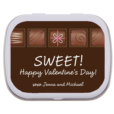 Valentine's Day Chocolates Mint Tin